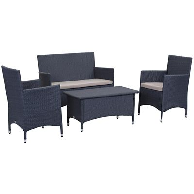 Safavieh Titanium/Sand 4-Piece Figueroa Patio Set