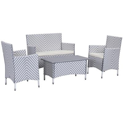 Safavieh Grey/White 4-Piece Figueroa Patio Set
