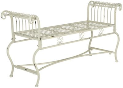 Safavieh Antique White Brielle Bench