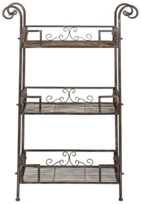Safavieh Rustic Brown Noreen 3-Tier Shelf