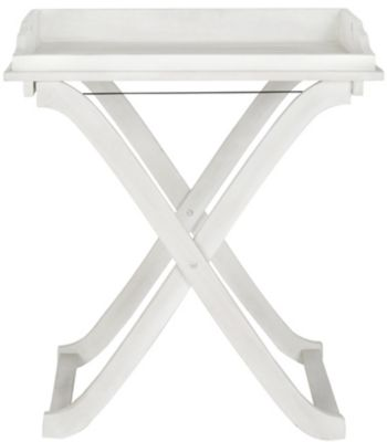 Safavieh Antique White Covina Tray Table