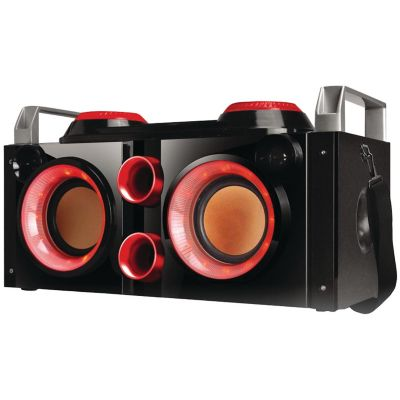 QFX Red Rechargeable Party PA Bluetooth Boombox