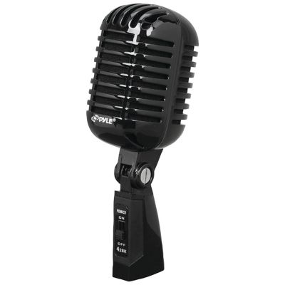 Pyle Black Retro Dynamic Vocal Microphone