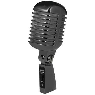 Pyle Black Metal Retro Dynamic Vocal Microphone