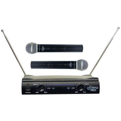 Pyle Pro Black Dual VHF Wireless Microphone System