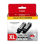 Canon PGI-270 XL 2-Pack Pigment Black Ink Tank