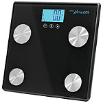 Pyle Black Bluetooth Digital Weight and Personal Health Scale With Wireless Smartphone Data Transfer