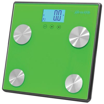 Pyle Green Bluetooth Digital Weight and Personal Health Scale With Wireless Smartphone Data Transfer