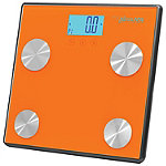 Pyle Orange Bluetooth Digital Weight and Personal Health Scale With Wireless Smartphone Data Transfer