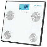 Pyle White Bluetooth Digital Weight and Personal Health Scale With Wireless Smartphone Data Transfer