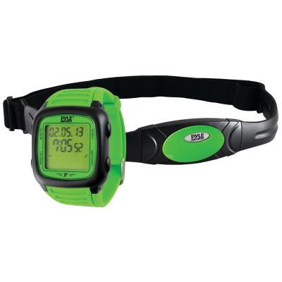 Pyle Green Multifunction Activity Watch with Heart Rate Monitor