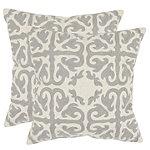 Safavieh Light Grey Moroccan Pillows Set of 2