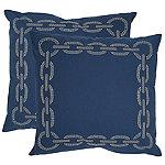 Safavieh Navy Blue Sibine Pillows Set of 2