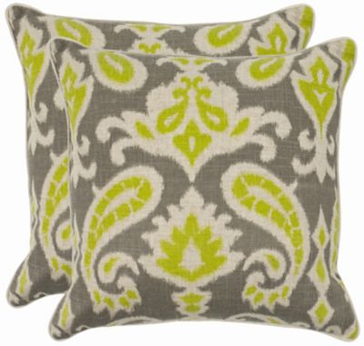 Safavieh Lime Dylan Pillows Set of 2