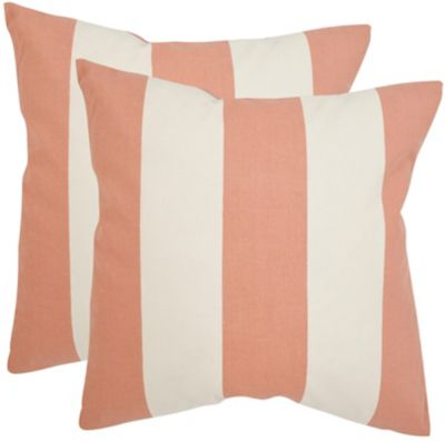 Safavieh Peach Sally Pillows Set of 2