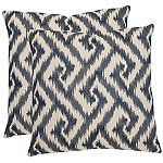 Safavieh Blue Teddy Pillows Set of 2