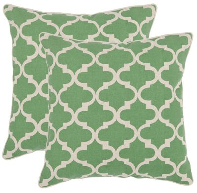 Safavieh Green Suzy Pillows Set of 2
