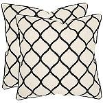 Safavieh Black Eliza Pillows Set of 2