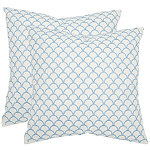 Safavieh Blue Nikki Pillows Set of 2