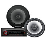 Kenwood 200-Watt CD Receiver and 180-Watt 2-Way Speaker System 79.95