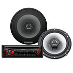 Kenwood 200-Watt CD Receiver and 180-Watt 2-Way Speaker System with Front USB Port 99.95