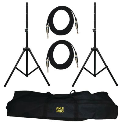 Pyle Pro Heavy-Duty Pro Audio Speaker Stand and 14-Gauge Cables