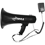 Pyle Pro 40-Watt Professional Megaphone with Siren and Auxiliary Jack