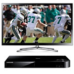 Samsung 60' 3D Plasma Smart HDTV with FREE Blu-ray Player No price available.