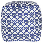 Safavieh Blue/White Diamond Link Venetian Pouf