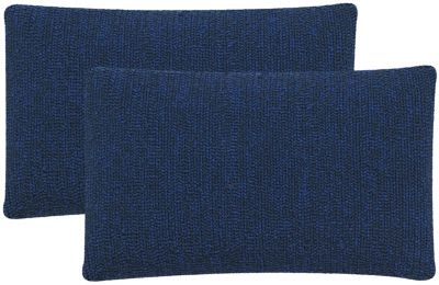 Safavieh Dark Marine Blue Soleil Indoor/Outdoor Pillows Set of 2