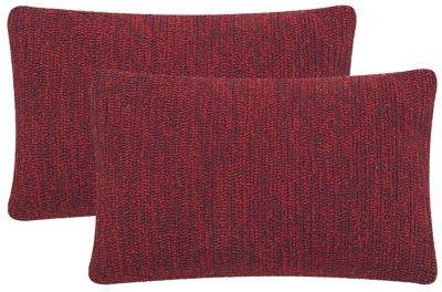 Safavieh Marine Red Soleil Indoor/Outdoor Pillows Set of 2