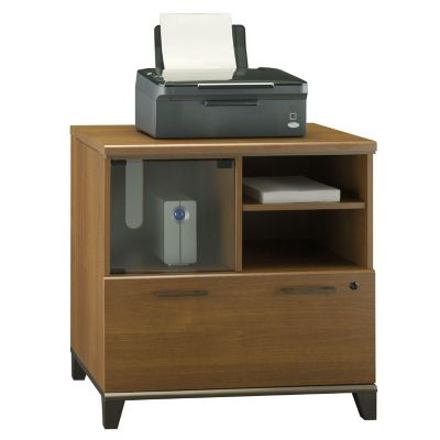 Bush Warm Oak Achieve Lateral File Printer Stand