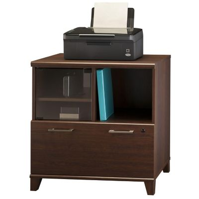 Bush Sweet Cherry Achieve Lateral File Printer Stand