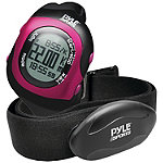 Pyle Pink Bluetooth Fitness Heart Rate Monitoring Watch with Wireless Data Transmission and Sensor