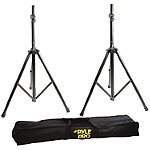 Pyle Pro Aluminum Anodizing Dual-Speaker Stand with Travel Bag