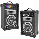 Pyle Pro 800-Watt 2-Way PA Bluetooth Speaker System with Auxiliary Jack
