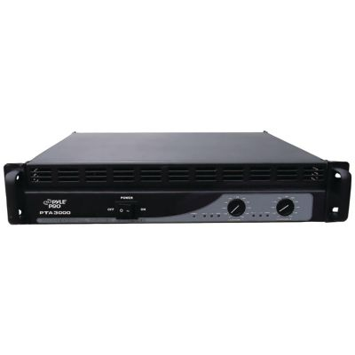Pyle Pro 3000-Watt Professional Power Amplifier with Built-In Crossover
