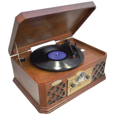 Pyle Retro Style Turntable with Bluetooth