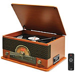 Pyle Pro Retro-Style Bluetooth Turntable with MP3 Recording, CD Player & Cassette Player