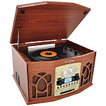 Pyle Home Wood Bluetooth Retro Vintage Classic Style Turntable Vinyl Record Player