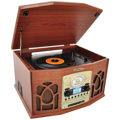 Pyle Home Wood Bluetooth Retro Vintage Classic Style Turntable Vinyl Record Players