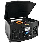 Pyle Home Black Bluetooth Retro Vintage Classic Style Turntable Vinyl Record Player