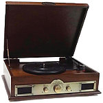 Pyle Maple Burst Classic Style Turntables with Bluetooth