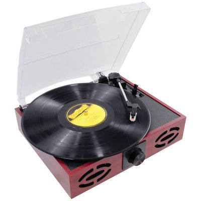 Pyle Classic Vintage Retro Style Turntable with Vinyl to MP3 Recording