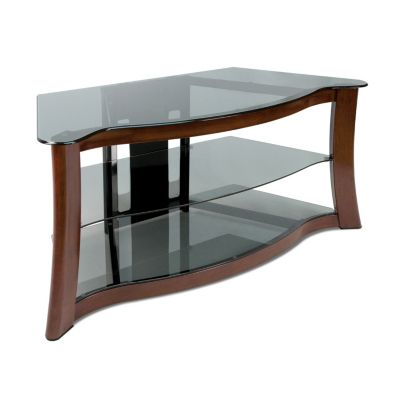 Bell'O Hand-Painted Dark Cherry Audio/Video Stand for Flat Panel TVs Up to 52