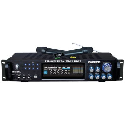 Pyle Pro 1,000-Watt Preamp and Wireless Microphone System