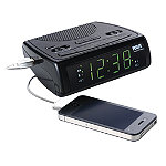 RCA AM/FM Clock Radio with USB Charging Port 12.95