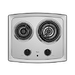 Whirlpool 21' Electric Cooktop with High-Speed Elements and Stainless Steel Surface