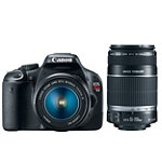 Canon 18 Megapixel Digital SLR Camera with 18-55mm IS Lens and 55-250mm f/4-5.6 IS Telephoto Zoom Lens 999.94