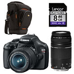 Canon D-SLR Camera with 2 Lenses,  Case and 8G SD Card 702.19